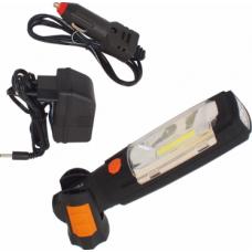 Pakraunamas žibintuvėlis su magnetu 3W COB + 6 LED