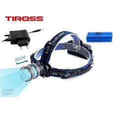 Įkraunamas žibintuvėlis ant galvos LED TS-1146