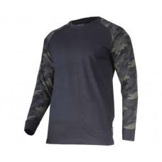 Marškinėliai su ilgomis rankovėmis, kamufliažiniai 190g, CE, LAHTI