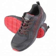 Darbo batai guminiai/medžiag. juodai-raud.,S1 SRC ,CE,LAHTI