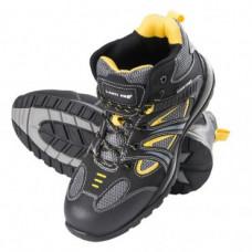 Darbo batai NUBUK/medžiag.juodai-gelt., S1P SRA ,CE,LAHTI