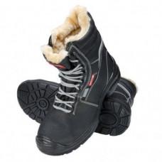 Darbo batai odiniai žieminiai juodi S3 SRC ,CE,LAHTI
