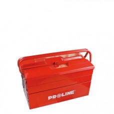 Dėžė įrankiams 404mm 3-jų sekcijų metalinė PROLINE