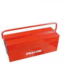 Dėžė įrankiams 550mm 3-jų sekcijų metalinė PROLINE