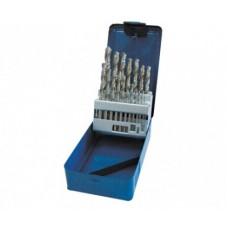 Grąžtai metalui 1-10mm 19vnt. HSS DIN338 šlifuoti PROLINE