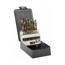 Grąžtai metalui 1,0-10,0mm 19vnt.HSS DIN338 šlifuoti PROLINE