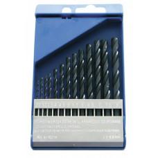Grąžtai metalui 2-8mm 13vnt.HSS DIN338 šlifuoti PROLINE