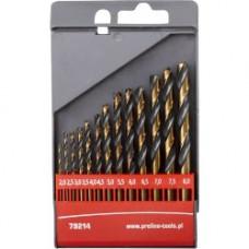 Grąžtai metalui 2,0-8,0mm 13vnt.HSS DIN338 šlifuoti PROLINE