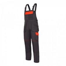 Kelnės su petnešom grafito-oranž.XL(56),CE,LAHTI