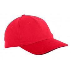Kepurė su snapeliu raudona,CE,LAHTI