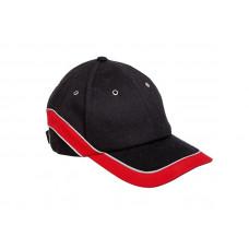 Kepurė su snapeliu raudonai-juoda,CE,LAHTI