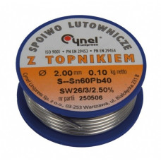 Lydmetalis 2.0mm 60% Sn SW26 100g