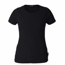 Marškinėliai juodi moteriški 180g, CE, LAHTI