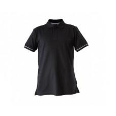 Marškinėliai polo juodi 220g, CE, LAHTI