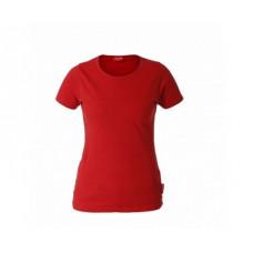 Marškinėliai raudoni moteriški 180g, CE, LAHTI