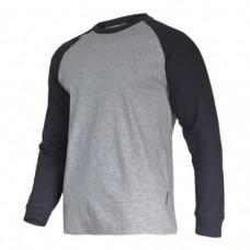Marškinėliai su ilgomis rankovėmis pilkai-juodi 190g, CE, LAHTI