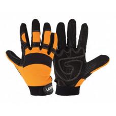 Pirštinės apsauginės juodai-oranž. ,CE,LAHTI