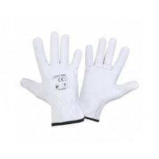 Pirštinės apsauginės odinės baltos 9'',CE,LAHTI