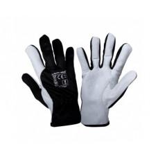 Pirštinės apsauginės odinės juodos, CE,LAHTI