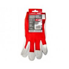 Pirštinės apsauginės odinės raudonos ,CE,LAHTI