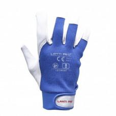 Pirštinės apsaug.odinės mėlynos, CE,LAHTI