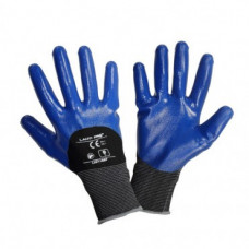 Pirštinės nitrilas juodai-mėlynos 10
