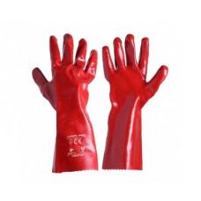 Pirštinės PVC ilgos raudonos 10',CE,LAHTI