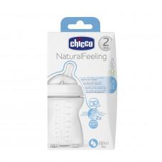 CHICCO Buteliukas NATURAL FEELING, 250 ml, 2M+