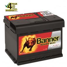 Banner 62 Ah 550A 12V Power Bull akumuliatorius 241x175x190mm