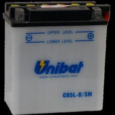 Akumuliatorius Unibat 12V 5AH 65A 120x60x130mm
