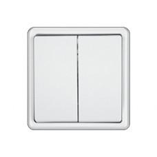 Jungiklis ST150 2 klavišų, baltas, 2p pot. su rėmeliu