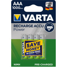 Įkraunami elementai VARTA R03, AAA, 1000mAh-4BL, 4 vnt.