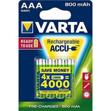 Įkraunami elementai VARTA R03, AAA, 800mAh-4BL, 4 vnt.