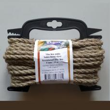 Lininė sukta virvė, 8 mm x 10 m