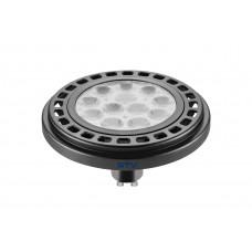 LED lemputė ES111 12W, GU10, 3000K, 950lm, 45* juoda