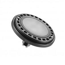 LED lemputė ES111 12W, GU10, 3000K, 850lm, 120* juoda