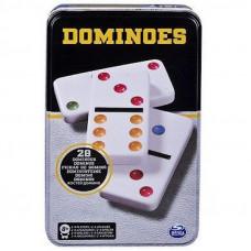 CARDINAL GAMES Domino, Metal box, 6033156