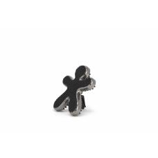 Mr&Mrs Niki Fashion Car air freshener JNIKIFASBX003 Scent for Car, Bergamot & Iris, Laminated silver & black