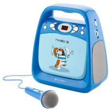 GoGen Portable Maxi Karaoke CD Player with bluetooth GOGMAXIKARAOKEB Blue, 6xLR14 (type C)